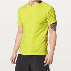 Lululemon Bright Yellow Metal Vent Tech Shirt